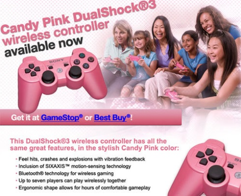 Pink Sony PS3 DualShock Controller