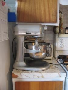Chrome Kitchen Aid Stand Mixer