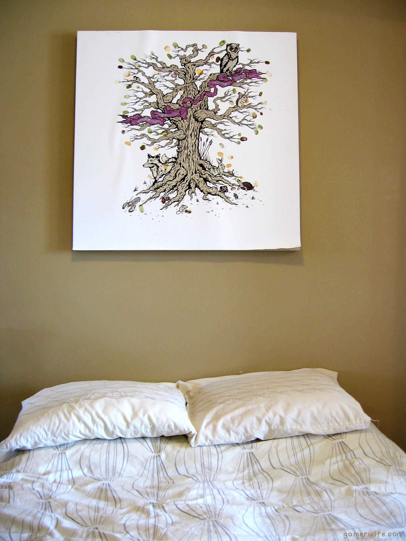 Fingerprint Tree over bed